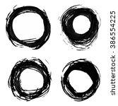 grunge black ink isolated... | Shutterstock .eps vector #386554225