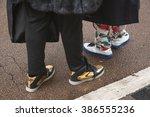 milan  italy   february 27 ...   Shutterstock . vector #386555236