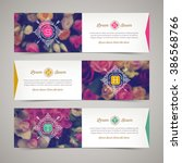 three elegant banners with... | Shutterstock .eps vector #386568766