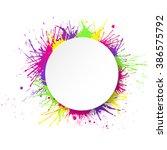 white round paper banner on... | Shutterstock .eps vector #386575792