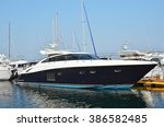 Motor Yacht By Harbor Pier ...