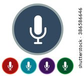 icons mic for web and mobile | Shutterstock .eps vector #386586646