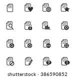 document web icons for user... | Shutterstock .eps vector #386590852