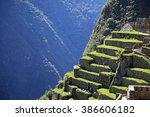 machu picchu  an incan citadel... | Shutterstock . vector #386606182