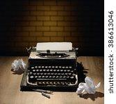 Vintage Typewriter And A...
