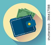 wallet icon vector money icon... | Shutterstock .eps vector #386617588