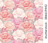 pale color rose vector template ... | Shutterstock .eps vector #386619442