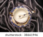 Porcelain Cup  Spoon And Plate...