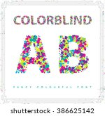 set of colorblind style font in ...
