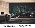 loft studio design with... | Shutterstock . vector #386625232