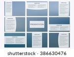 set of modern business... | Shutterstock .eps vector #386630476