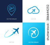 vector logo design templates... | Shutterstock .eps vector #386644252