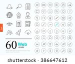 set of web icons for internet... | Shutterstock .eps vector #386647612