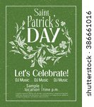 saint patrick's day vintage... | Shutterstock .eps vector #386661016