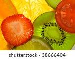fruits and vegetables back... | Shutterstock . vector #38666404