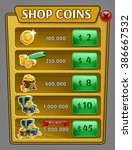 shop coins panel  game asset...