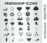 friends icons set  group of... | Shutterstock .eps vector #386670922