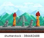 vector illustration seamless... | Shutterstock .eps vector #386682688