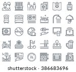 hotel icon set suitable for... | Shutterstock .eps vector #386683696