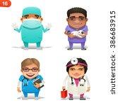 medical professions set | Shutterstock .eps vector #386683915