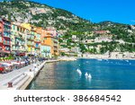Panoramic View Of Coastline An...