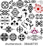 many ornament decorative... | Shutterstock . vector #38668735