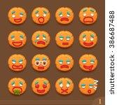 smiley cookies | Shutterstock .eps vector #386687488