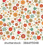 seamless floral pattern with... | Shutterstock .eps vector #386695048