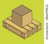 closed carton delivery... | Shutterstock . vector #386699812