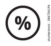 flat black percentage web icon...