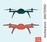 drone icon. quadcopter icon...