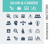 human resources  career icons   | Shutterstock .eps vector #386737285