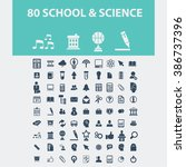 school  science icons  | Shutterstock .eps vector #386737396
