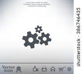 settings icon vetor | Shutterstock .eps vector #386746435
