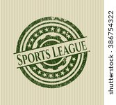 sports league rubber stamp with ... | Shutterstock .eps vector #386754322