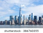 the freedom tower and lower... | Shutterstock . vector #386760355
