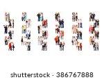 office culture achievement idea    Shutterstock . vector #386767888