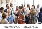 diversity people party... | Shutterstock . vector #386787166