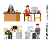 business people working in...   Shutterstock .eps vector #386790868