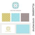 vector set of graphic design... | Shutterstock .eps vector #386804716