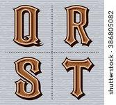 alphabet western letters... | Shutterstock .eps vector #386805082