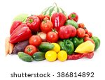 set of different vegetables... | Shutterstock . vector #386814892