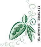 a vector embellishment of pea... | Shutterstock .eps vector #38681611