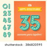 happy anniversary card or... | Shutterstock .eps vector #386820595