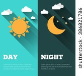 sun  moon  stars and clouds... | Shutterstock . vector #386821786