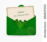 happy st. patrick day... | Shutterstock .eps vector #386829202