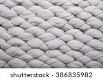 knitting wool texture closeup...   Shutterstock . vector #386835982