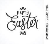 happy easter. excellent gift... | Shutterstock .eps vector #386847988