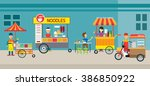 thailand street food and drink  ... | Shutterstock .eps vector #386850922