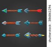 set of fantastic cartoon arrows ...